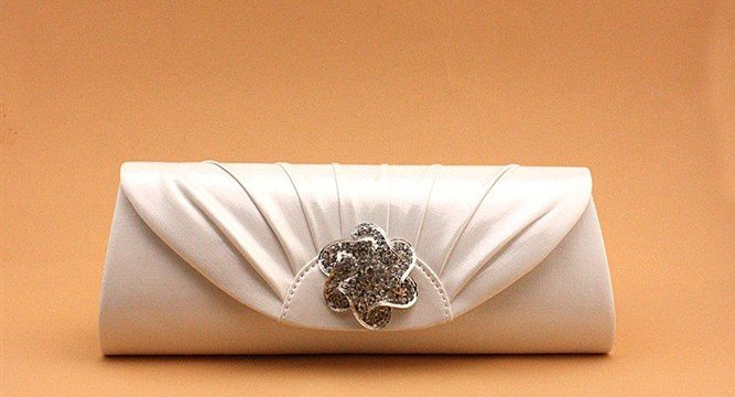 White Diamond Style Bridesmaid Bags 2016