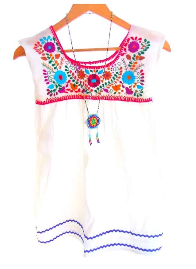 White Handmade Embroidered Cotton Dresses