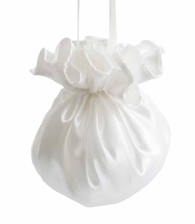 White Satin Bridesmaid Flower Bag Ideas