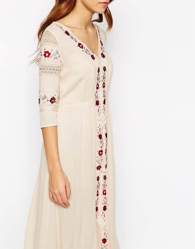 Winter Flower Embroidered Cotton Outfits for Women