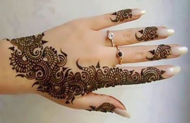 Women Arabic Mehndi Designs for Fingers