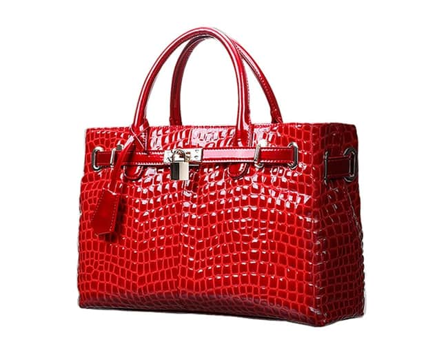 Women Red Leather Tote Handbags Designs