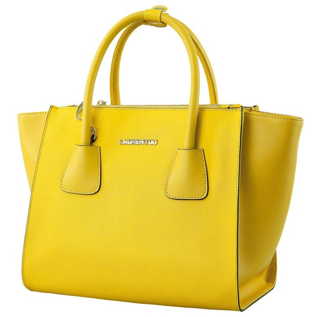 Yellow Leather Tote Handbags for Party 2016