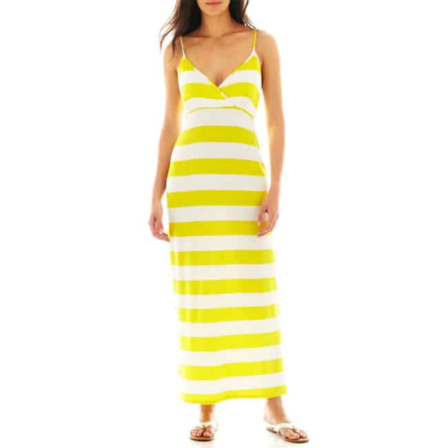 Yellow and White Maxi Dresses for Summer