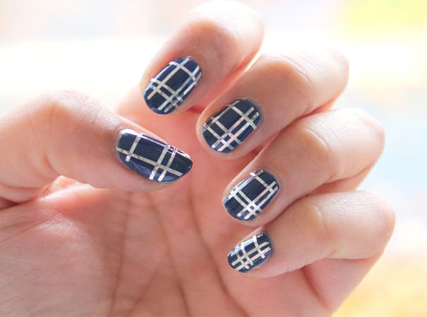 Amazing Nail Tape Pattern Ideas