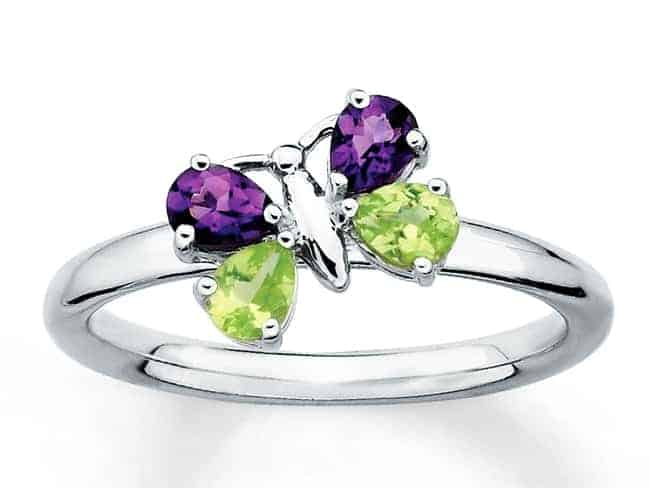Amethyst and Peridot Silver Ring Designs