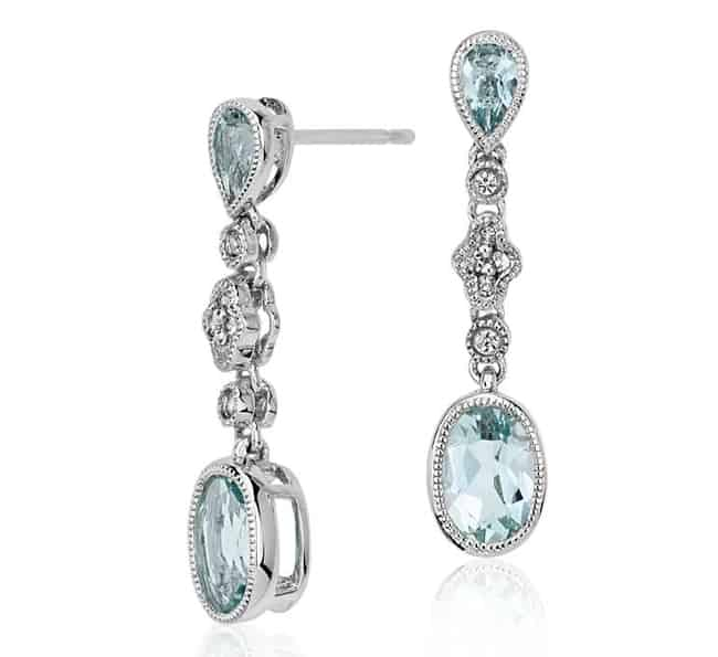 Attractive Aquamarine Blue Nile Earrings 2017