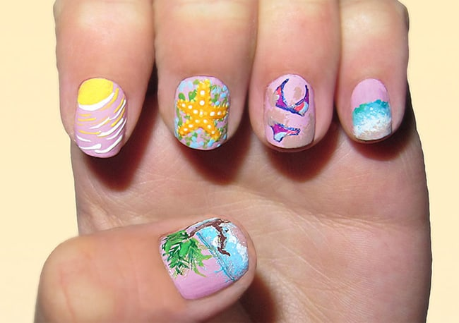 Awesome Summer Beach Nail Art Designs