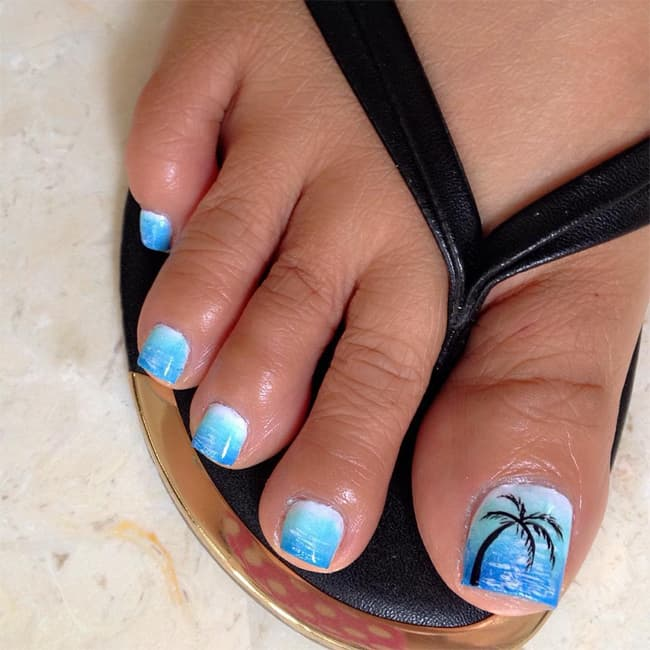 25 outstanding beach nail art ideas images sheideas beach themed nail art for long nails prinsesfo Image collections
