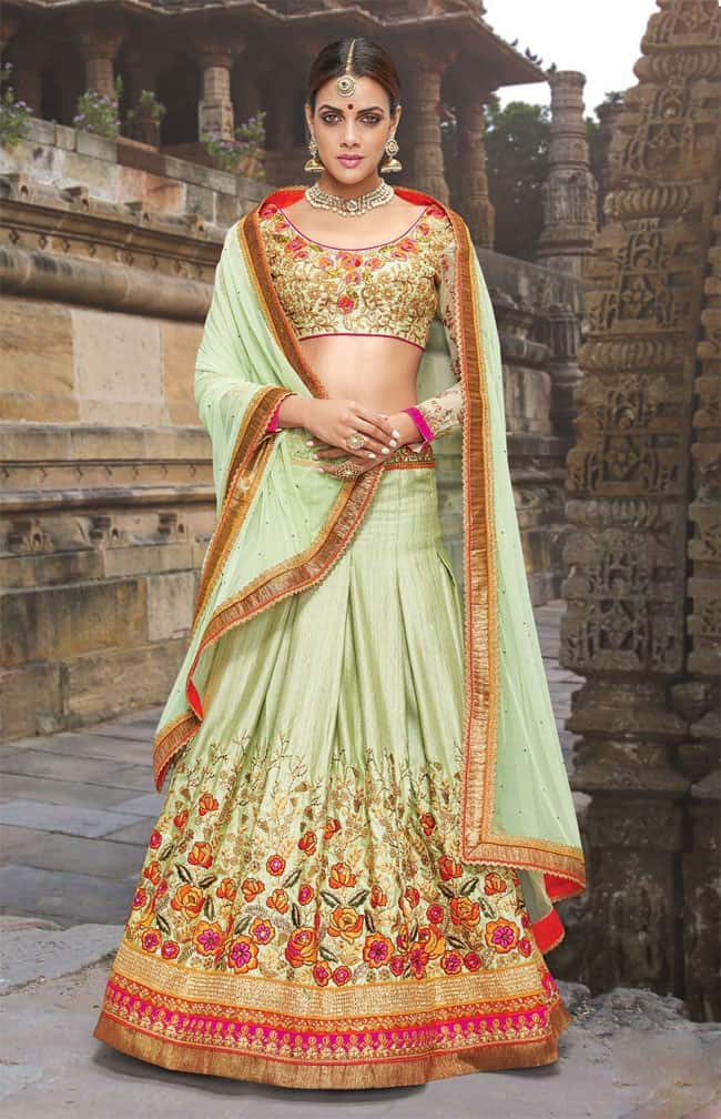 Beautiful Floral Lehenga Choli Designs 2020