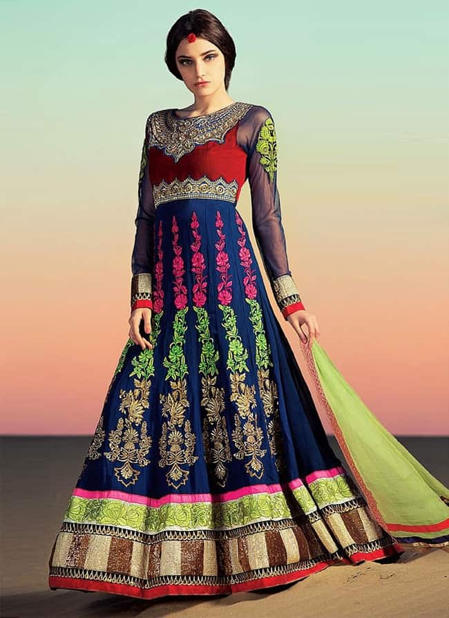 Best Designer Anarkali Bridal Suits for Dewali