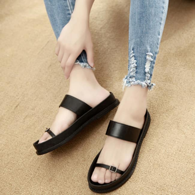 Black Summer Casual Shoes for Girls 2016