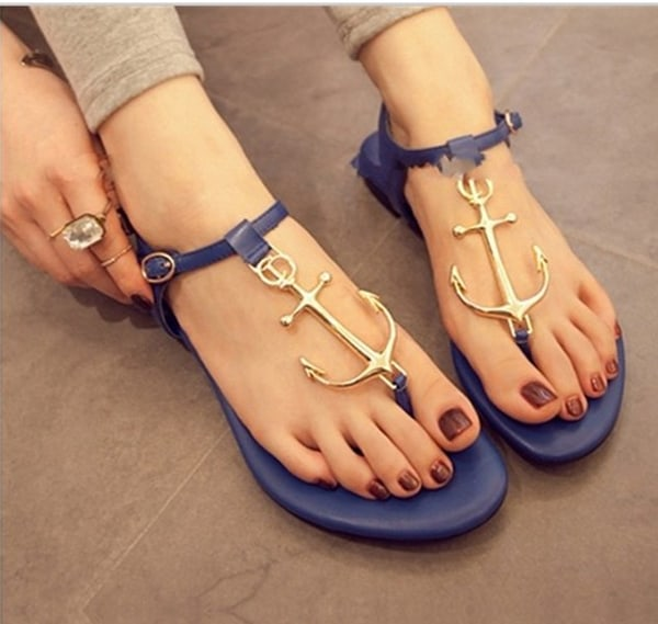 Blue Casual Wedges Sandal for Summer 2016