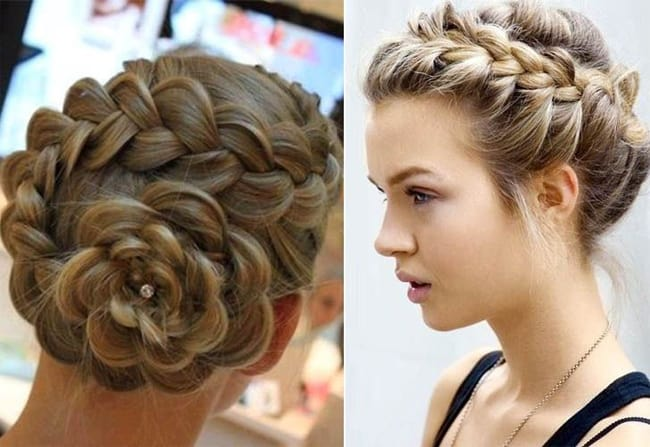 Braided Bun Updo Hairstyles for Wedding