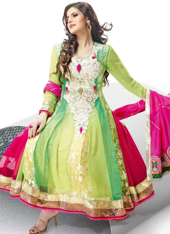 Celebrity Anarkali Embroidered Suit for Wedding
