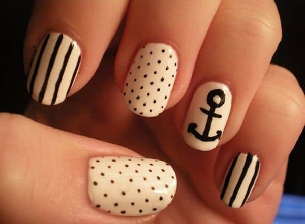 Cool Black and White Nail Patterns 2016