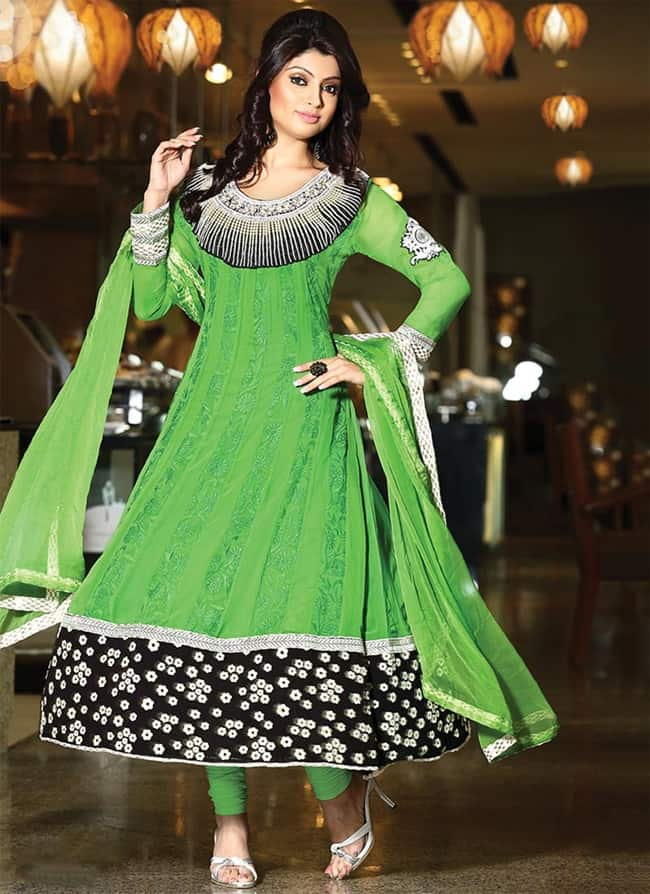 Cool Designer Embroidered Anarkali Suits for Party