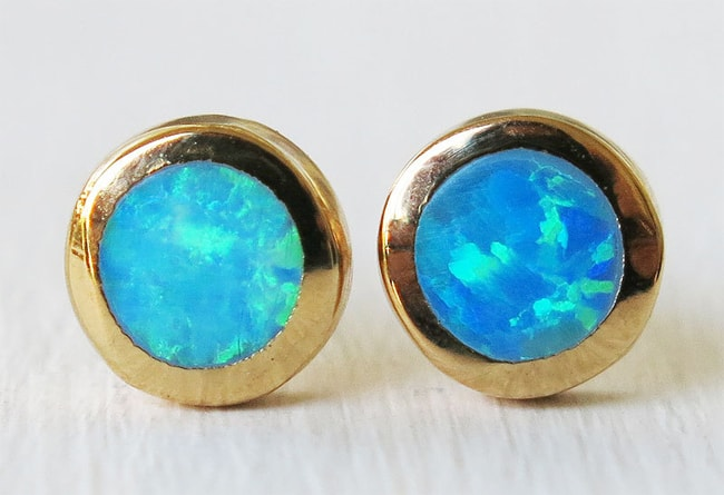 Cool Gold Opal Earrings for Women