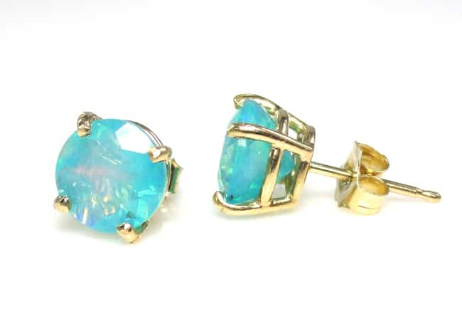 Cute Girls Opal Earrings for Wedding