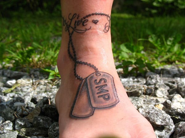 Fantastic Memorial Ankle Tattoo Ideas