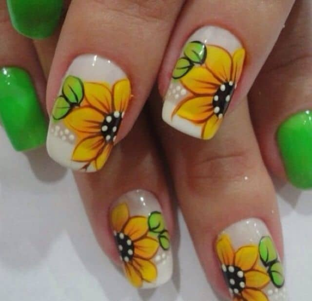 25 amazing sunflower nail designs for girls sheideas