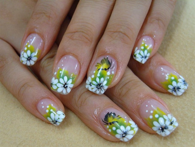 Floral Beach Nail Art Designs for Summer 2017