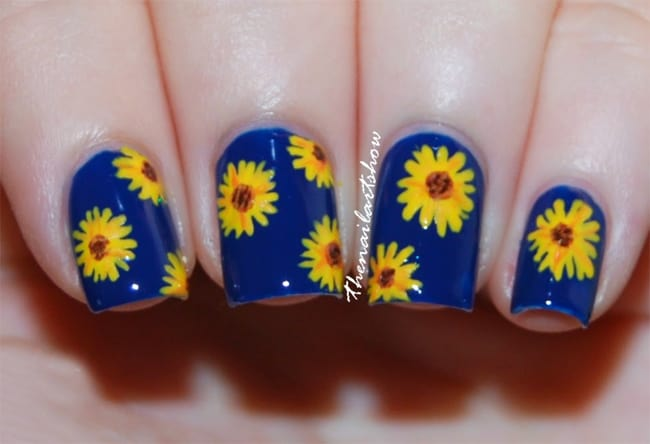 Fresh Blue and Sunflower Garden Designs