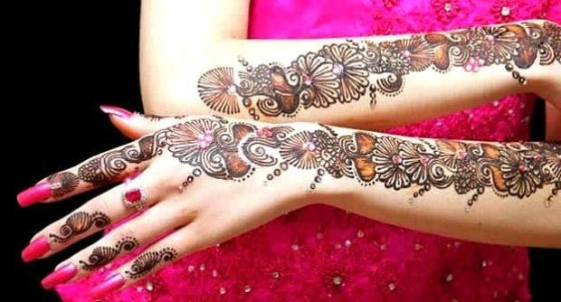 Full Hand Engagement Mehndi Art Ideas 2016