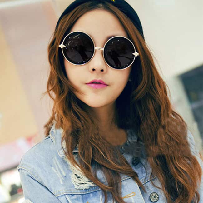 Girls Circular Sunglasses for Summer