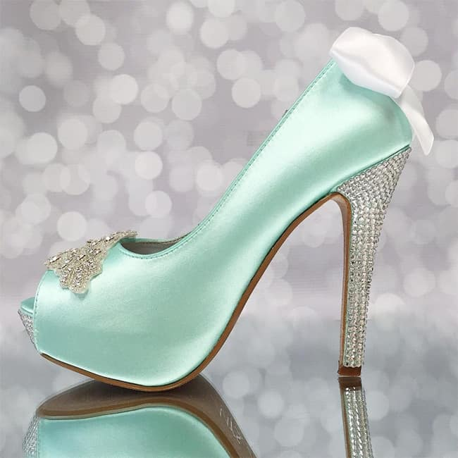 Good Aqua Blue Engagement Shoes for Wedding