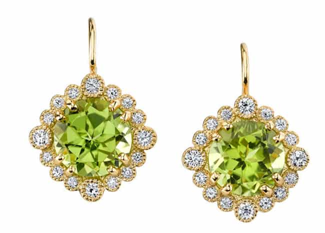 Great Peridot Drop Earrings Pictures