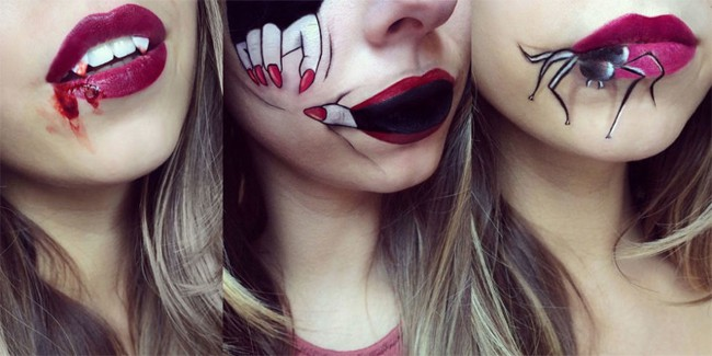 Halloween Party Lip Art for Girls