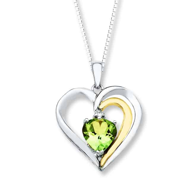 Heart Shaped Peridot Jewelry Designs