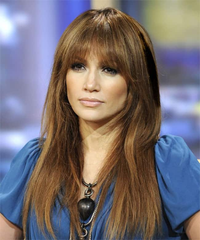 Jennifer Lopez Hime Cut With Long Straight Hair
