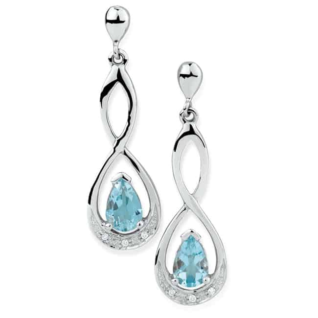 Latest Drop Earrings with Aquamarine 2017