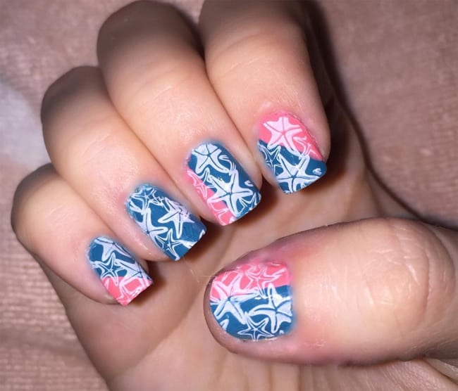 Latest Nail Designs: 30 Outstanding Beach Nail Art Ideas Images 2019