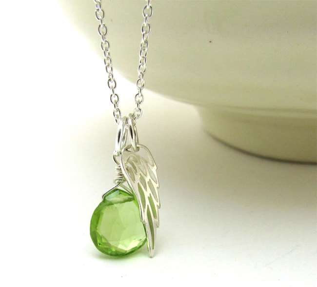 Lime Green Peridot Pendant Jewelry Ideas