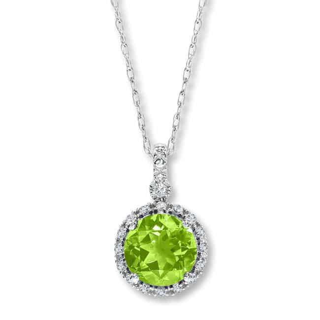 New Peridot Necklace Design for Women