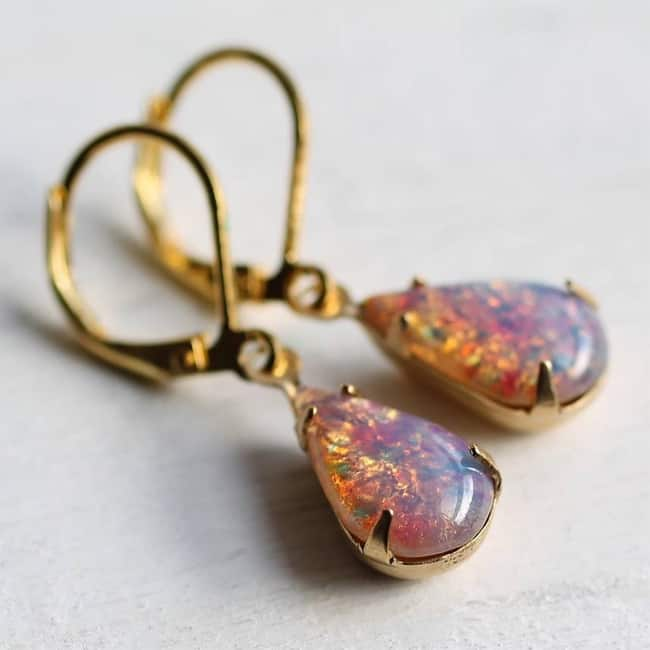 New Pink Opal Earrings Ideas