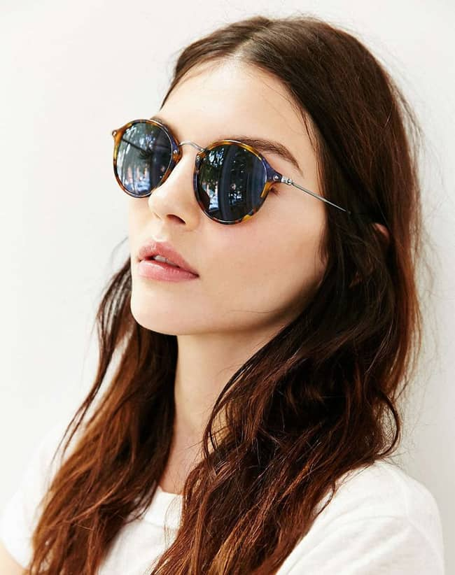 New Ray Ban Rounded Sunglasses for Women