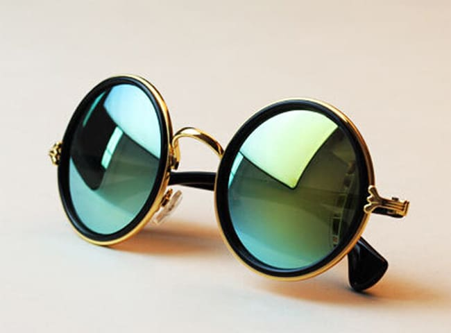 Reflective Circle Summer Sunglass for Ladies