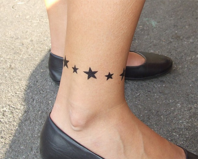 Stars Bracelet Tattoo Ideas for Women