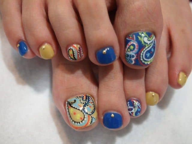 Stunning Toe Nail Art Pattern for Feet
