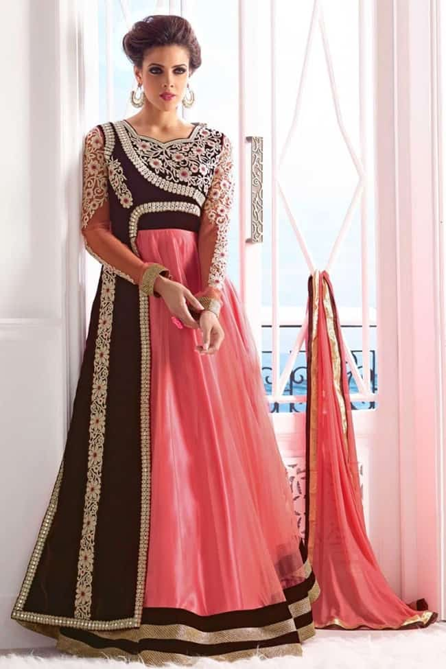 Stylish Bollywood Velvet Designer Anarkali Dresses