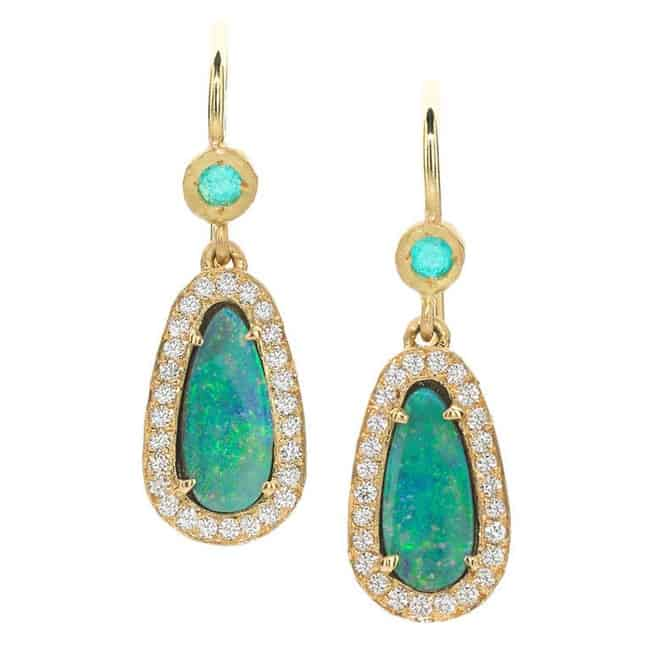 Super Handcrafted Boulder Opal Drop Earrings