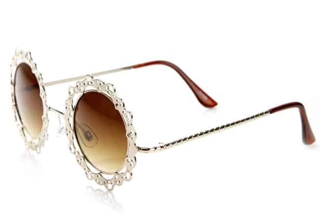 Super Metal Lace Cut Circular Sunglasses