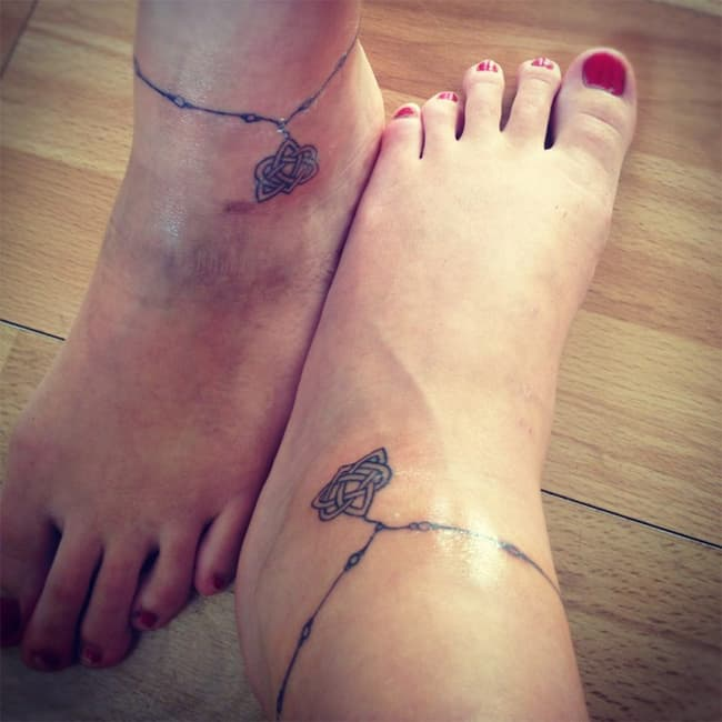 ankle bracelet tattoo designs