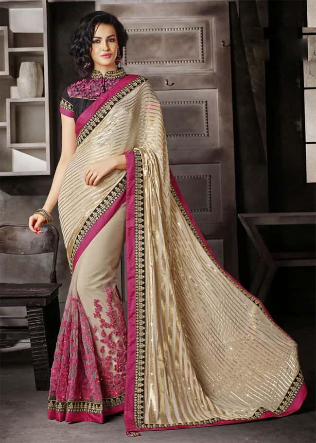 Trendy Designer Party Wear Sarees With Blouse