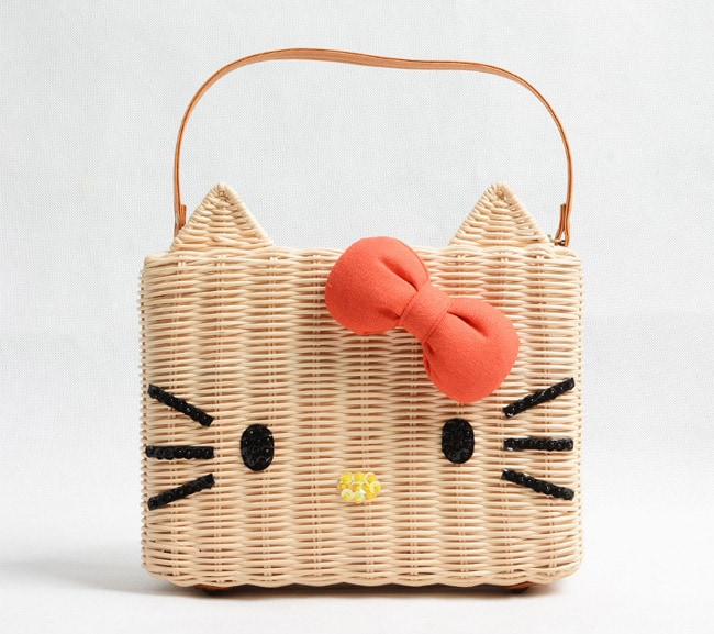 Trendy Hello Kitty Straw Bag for Beach