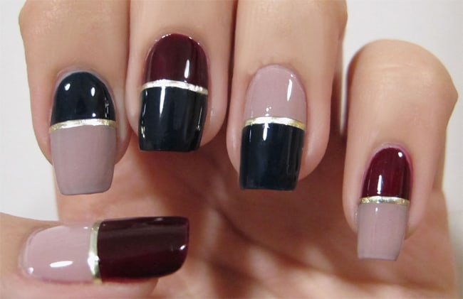 Trendy Winter Nail Painting Patterns 2017